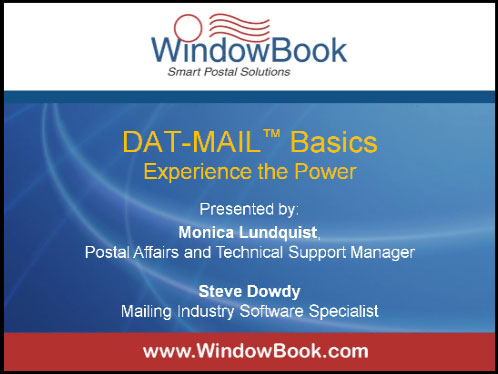 DAT-MAIL™ Basics - 05/09/13